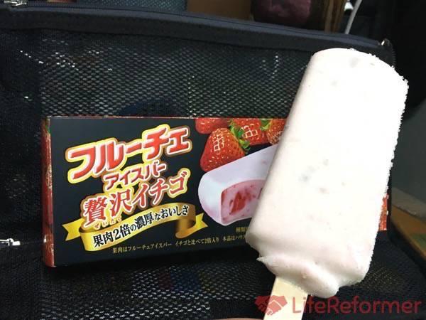 フルーチェアイスバー贅沢イチゴ5