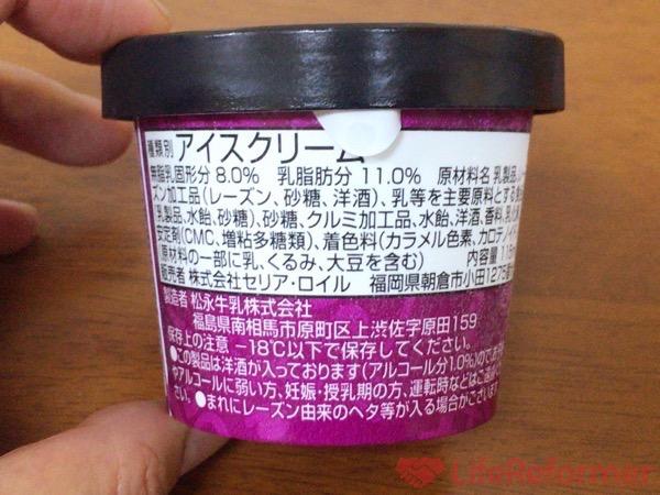 コールド ストーン ラムレーズンアイスクリーム 3