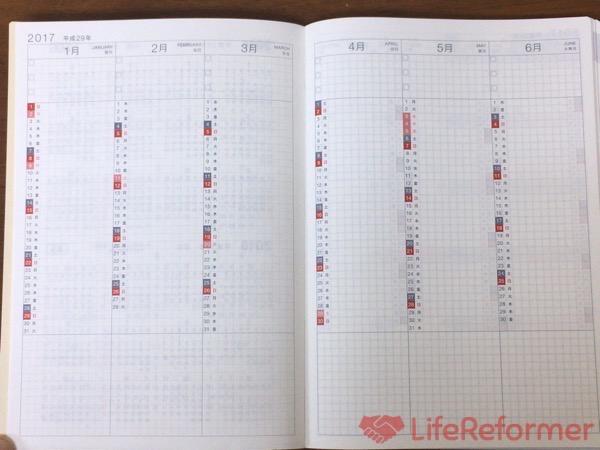 ほぼ日手帳カズン2017年版 6