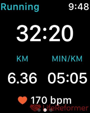 AppleWatchをつけてのマラソン大会 1