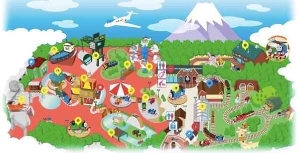 トーマスランド園内マップ